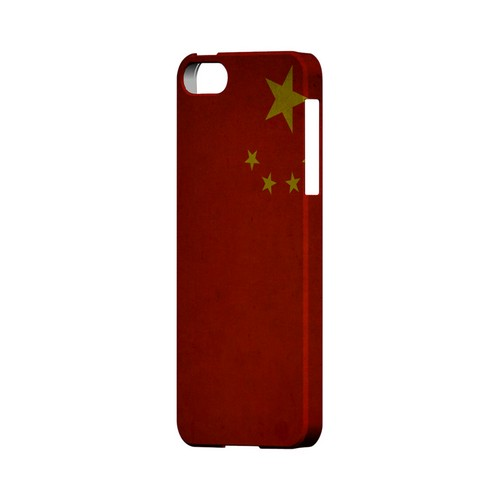 Grunge China Geeks Designer Line Flag Series Slim Hard Case for Apple iPhone 5/5S