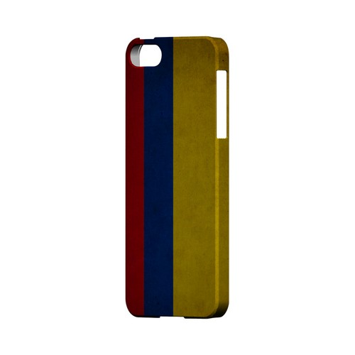 Grunge Colombia Geeks Designer Line Flag Series Slim Hard Case for Apple iPhone 5/5S