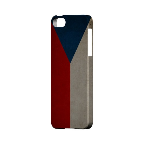 Grunge Czech Republic Geeks Designer Line Flag Series Slim Hard Case for Apple iPhone 5/5S