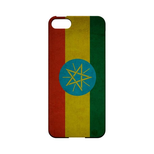 Grunge Ethiopia Geeks Designer Line Flag Series Slim Hard Case for Apple iPhone 5/5S