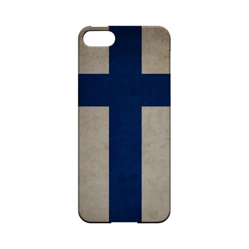 Grunge Finland Geeks Designer Line Flag Series Slim Hard Case for Apple iPhone 5/5S