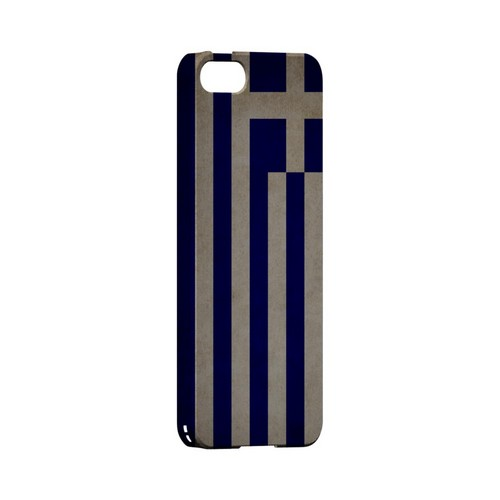 Grunge Greece Geeks Designer Line Flag Series Slim Hard Case for Apple iPhone 5/5S