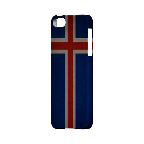 Grunge Iceland Geeks Designer Line Flag Series Slim Hard Case for Apple iPhone 5/5S