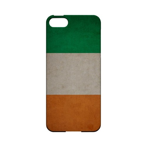 Grunge Ireland Geeks Designer Line Flag Series Slim Hard Case for Apple iPhone 5/5S