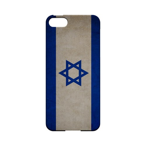 Grunge Israel Geeks Designer Line Flag Series Slim Hard Case for Apple iPhone 5/5S