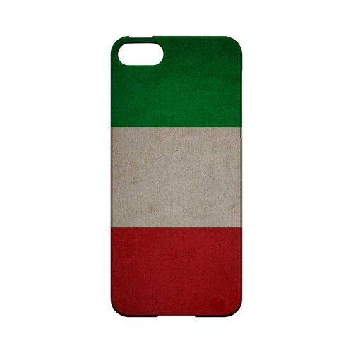 Grunge Italy Geeks Designer Line Flag Series Slim Hard Case for Apple iPhone 5/5S
