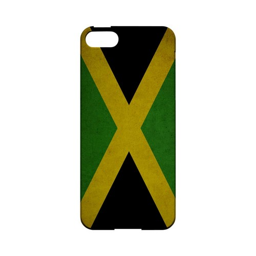 Grunge Jamaica Geeks Designer Line Flag Series Slim Hard Case for Apple iPhone 5/5S