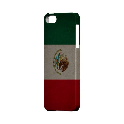 Grunge Mexico Geeks Designer Line Flag Series Slim Hard Case for Apple iPhone 5/5S