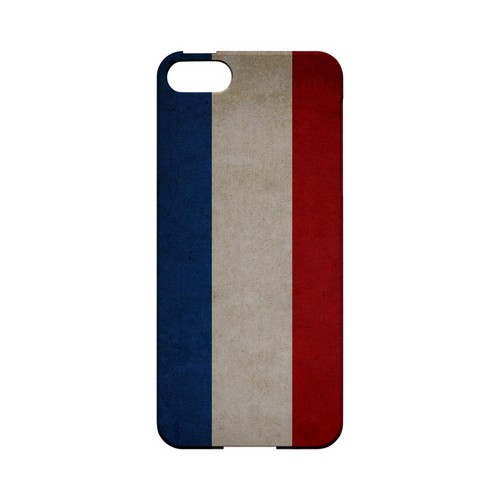 Grunge Netherlands Geeks Designer Line Flag Series Slim Hard Case for Apple iPhone 5/5S