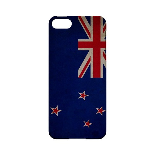 Grunge New Zealand Geeks Designer Line Flag Series Slim Hard Case for Apple iPhone 5/5S
