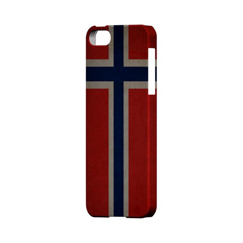Grunge Norway Geeks Designer Line Flag Series Slim Hard Case for Apple iPhone 5/5S