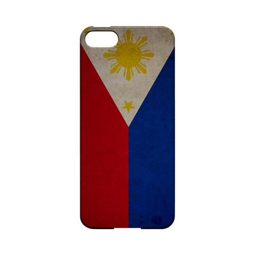 Grunge Philippines Geeks Designer Line Flag Series Slim Hard Case for Apple iPhone 5/5S