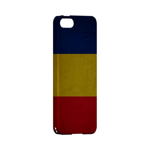Grunge Romania Geeks Designer Line Flag Series Slim Hard Case for Apple iPhone 5/5S