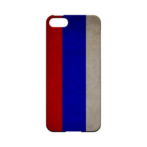 Grunge Russia Geeks Designer Line Flag Series Slim Hard Case for Apple iPhone 5/5S