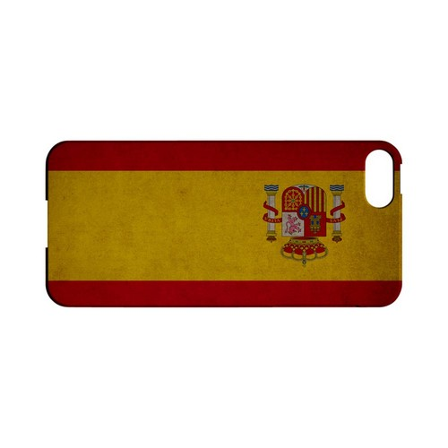 Grunge Spain Geeks Designer Line Flag Series Slim Hard Case for Apple iPhone 5/5S