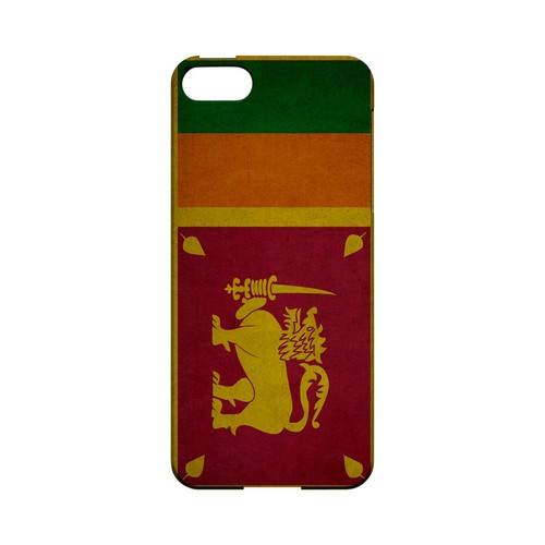 Grunge Sri Lanka Geeks Designer Line Flag Series Slim Hard Case for Apple iPhone 5/5S