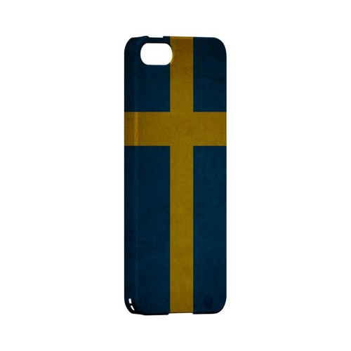 Grunge Sweden Geeks Designer Line Flag Series Slim Hard Case for Apple iPhone 5/5S