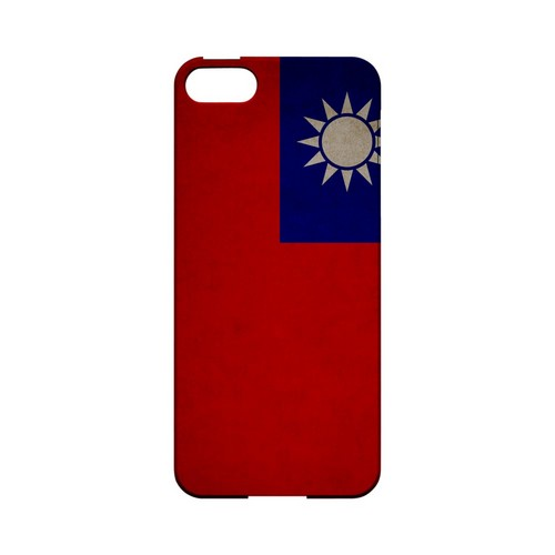 Grunge Taiwan Geeks Designer Line Flag Series Slim Hard Case for Apple iPhone 5/5S