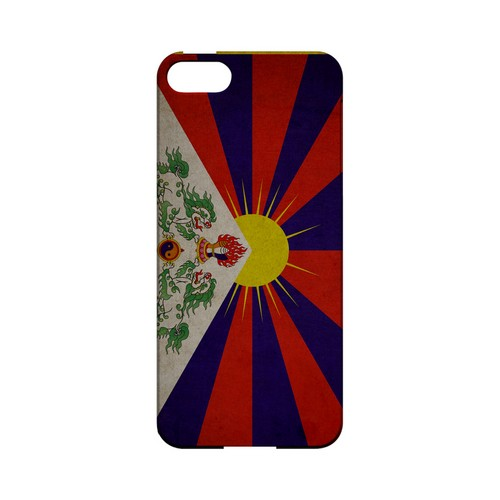 Grunge Tibet Geeks Designer Line Flag Series Slim Hard Case for Apple iPhone 5/5S