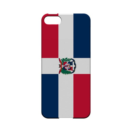 Dominican Republic Geeks Designer Line Flag Series Slim Hard Case for Apple iPhone 5/5S