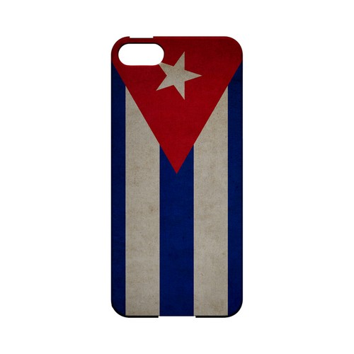 Grunge Cuba Geeks Designer Line Flag Series Slim Hard Case for Apple iPhone 5/5S