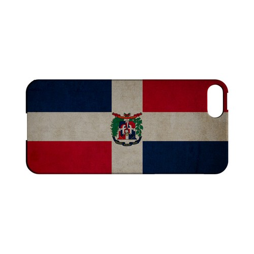 Grunge Dominican Republic Geeks Designer Line Flag Series Slim Hard Case for Apple iPhone 5/5S