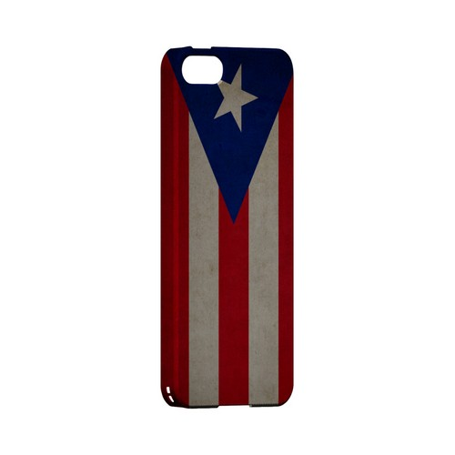 Grunge Puerto Rico Geeks Designer Line Flag Series Slim Hard Case for Apple iPhone 5/5S