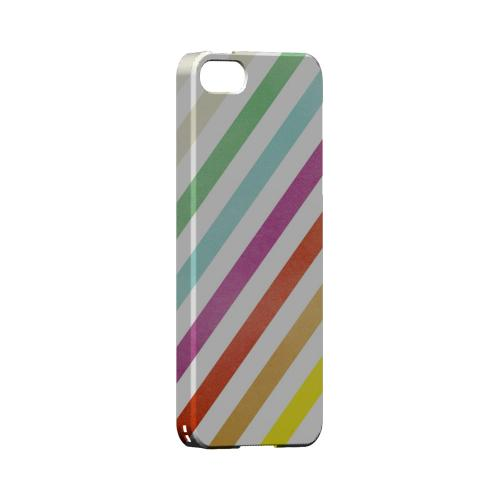 Dirty Diagonal Multi-Color - Geeks Designer Line Stripe Series Hard Case for Apple iPhone 5/5S