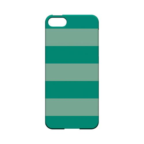 Emerald Grayed Jade - Geeks Designer Line Stripe Series Hard Case for Apple iPhone 5/5S