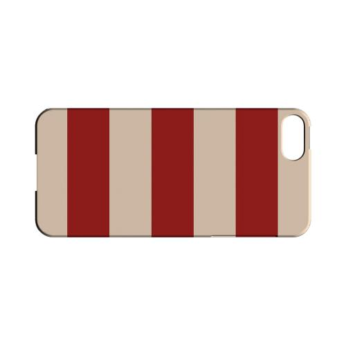 Linen Poppy Red - Geeks Designer Line Stripe Series Hard Case for Apple iPhone 5/5S