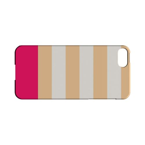 Pink Candy Stripes w/ Pink Bar - Geeks Designer Line Stripe Series Hard Case for Apple iPhone 5/5S