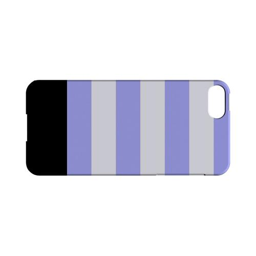 Purple Candy Stripes w/ Black Bar - Geeks Designer Line Stripe Series Hard Case for Apple iPhone 5/5S