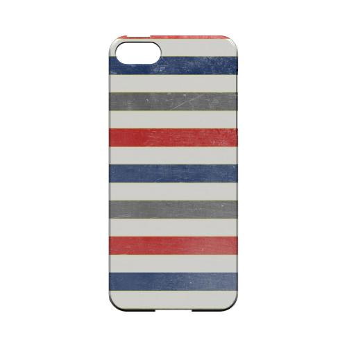 Stripey Blue/ Red - Geeks Designer Line Stripe Series Hard Case for Apple iPhone 5/5S