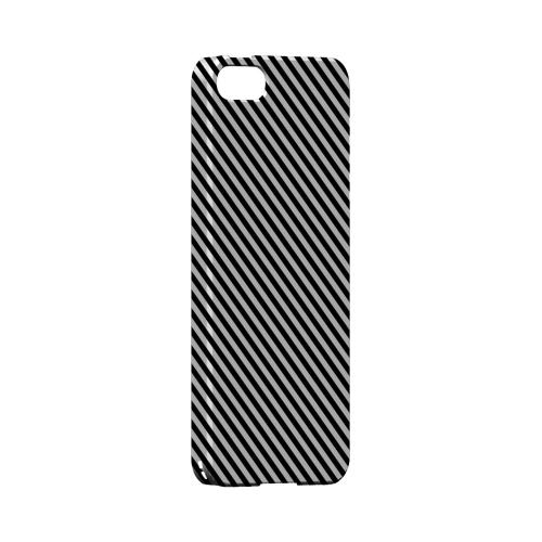 Thin Black/ White Diagonal - Geeks Designer Line Stripe Series Hard Case for Apple iPhone 5/5S