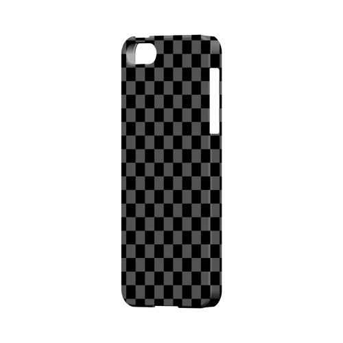 Gray/ Black - Geeks Designer Line Checker Series Hard Case for Apple iPhone 5/5S
