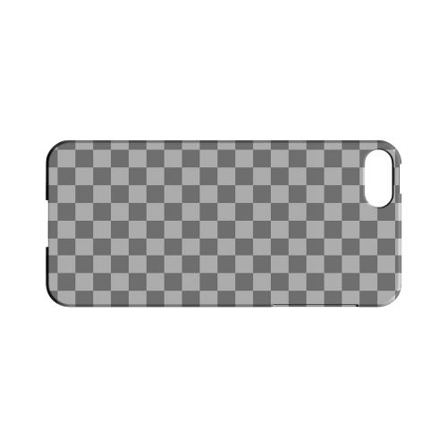 Gray/ Light Gray - Geeks Designer Line Checker Series Hard Case for Apple iPhone 5/5S