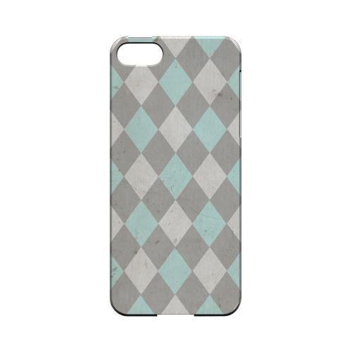 Grunge Pink/ Blue/ Gray Argyle - Geeks Designer Line Checker Series Hard Case for Apple iPhone 5/5S