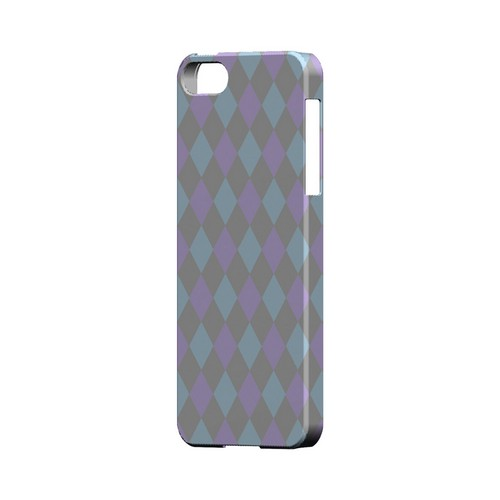 Gray/ Blue/ Purple Argyle - Geeks Designer Line Checker Series Hard Case for Apple iPhone 5/5S