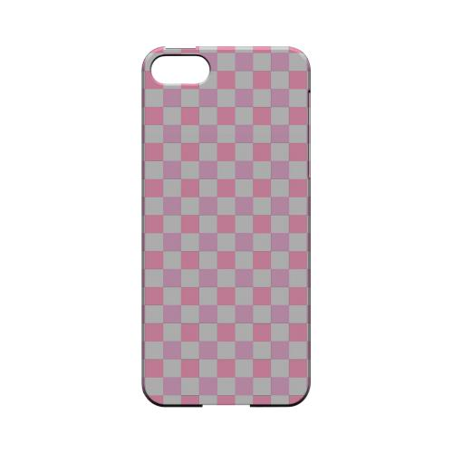 Pinkish - Geeks Designer Line Checker Series Hard Case for Apple iPhone 5/5S
