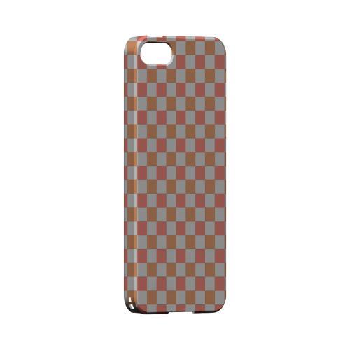 Pink/ Peach - Geeks Designer Line Checker Series Hard Case for Apple iPhone 5/5S