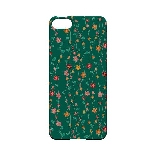 Flowers & Vines on Green - Geeks Designer Line Floral Series Hard Case for Apple iPhone 5/5S