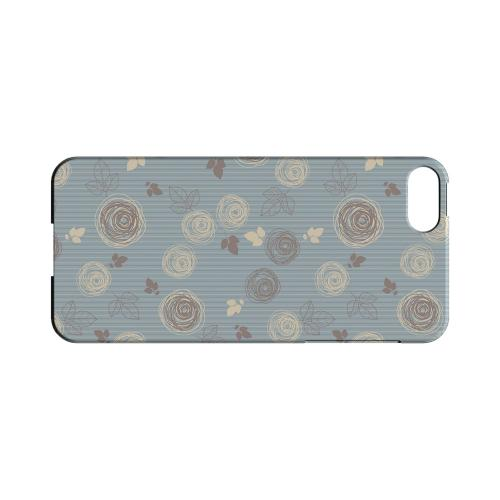 Leaves Scribble Blue/ Brown - Geeks Designer Line Floral Series Hard Case for Apple iPhone 5/5S