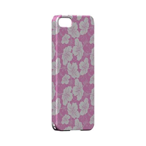 White Hibiscus on Pink - Geeks Designer Line Floral Series Hard Case for Apple iPhone 5/5S