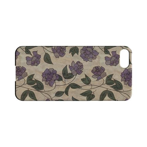 Purple Flowers & Vines Wallpaper - Geeks Designer Line Floral Series Hard Case for Apple iPhone 5/5S