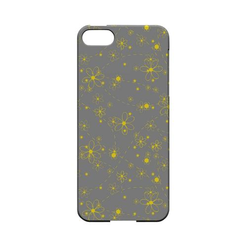Yellow Daisies on Gray - Geeks Designer Line Floral Series Hard Case for Apple iPhone 5/5S