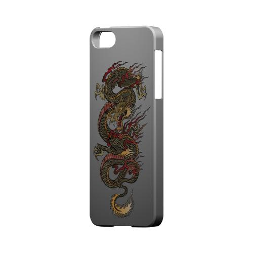 Dragon on Gray Gradient - Geeks Designer Line Tattoo Series Hard Case for Apple iPhone 5/5S