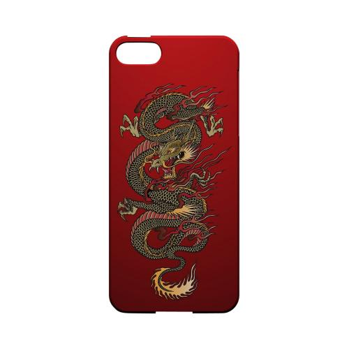 Dragon on Red Gradient - Geeks Designer Line Tattoo Series Hard Case for Apple iPhone 5/5S