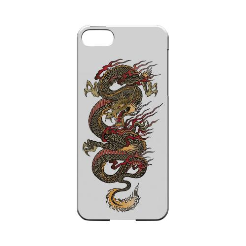 Dragon on White - Geeks Designer Line Tattoo Series Hard Case for Apple iPhone 5/5S