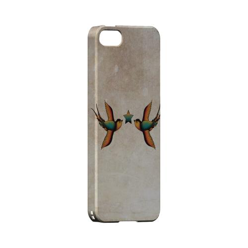 Dual Swallow Star - Geeks Designer Line Tattoo Series Hard Case for Apple iPhone 5/5S