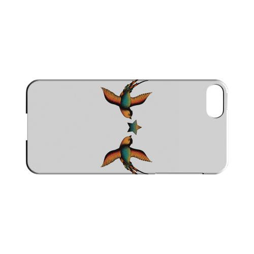 Dual Swallow Star on White - Geeks Designer Line Tattoo Series Hard Case for Apple iPhone 5/5S